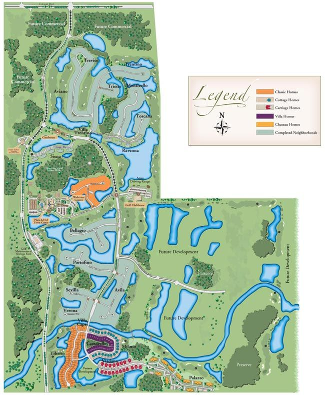 Pelican Preserve Site Map